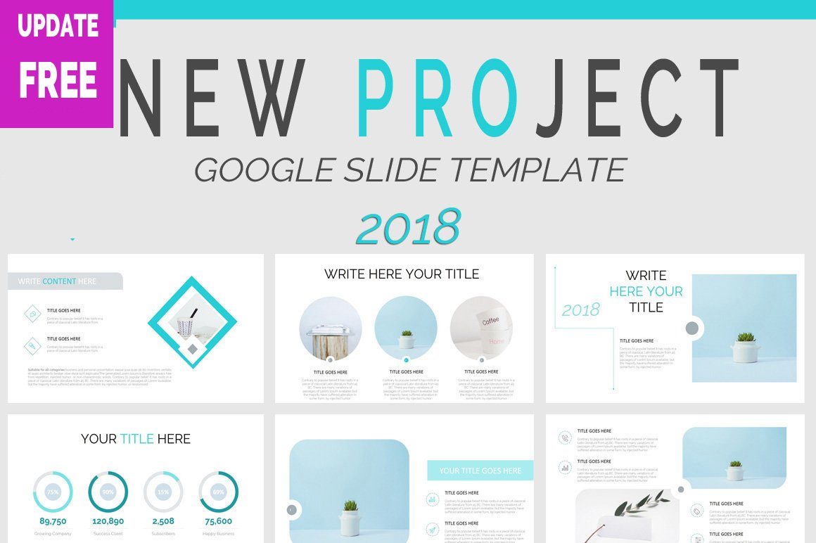 2018 project google slide template presentation templates