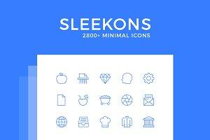 Sleekons - Minimalist Line Icons