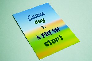Every day is a fresh start! Quote.