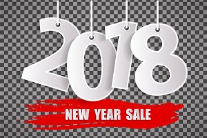 New Year sale 2018 concept isolated