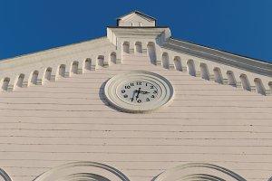 Facade with a clock 2