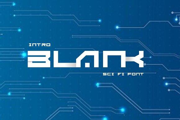 BLANK - Sci Fi Font ( 2 Font)