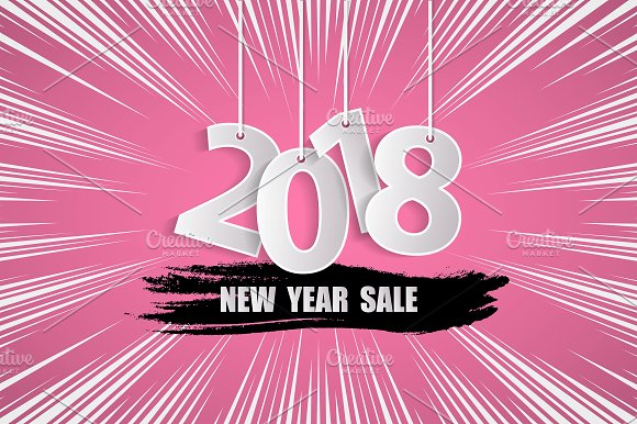 Vector New Year Sale 2018 Concept