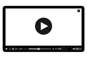 Modern video player design template