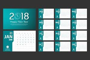 2018 New Year vector calendar
