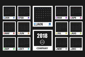 2018 New Year vector calendar