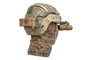 Helmet camouflage protection
