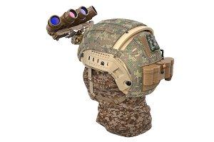 Helmet night vision