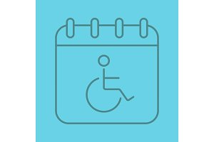 Disability day linear icon