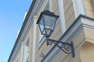 Lamp on the facade