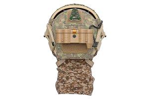 Helmet military, back view