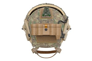 Helmet military protection, back view