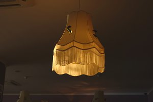 Old-fashioned lamp shade
