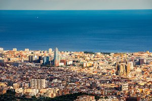 Aerial view of Barcelona