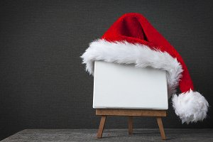 Red Santa Claus cap