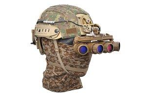 Helmet night goggles