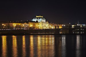 Night view at the National Theater i