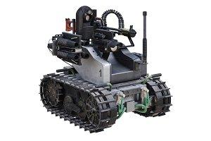 Military robot tank
