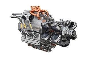 Sci-fi engine car