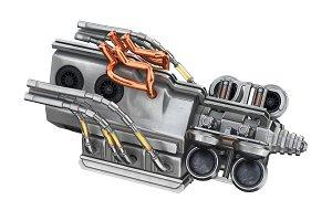 Sci-fi engine machine