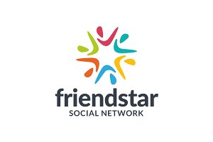 Friend Star Social Network Logo