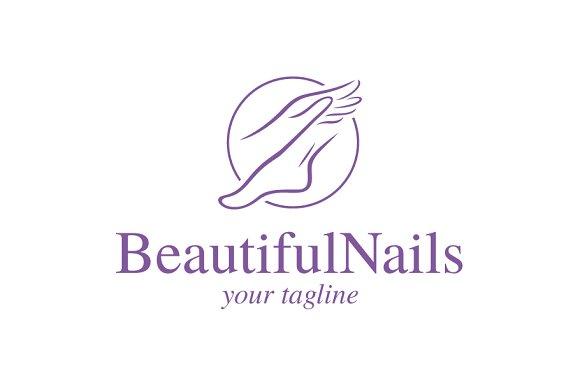Beautiful Nails Logo Logo Templates Creative Market