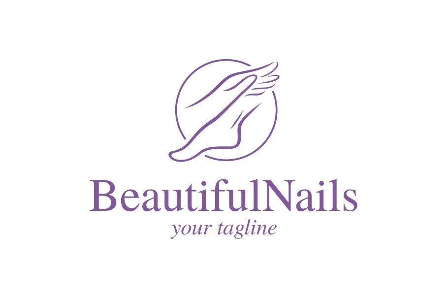 Beautiful Nails Logo Templates Creative Market