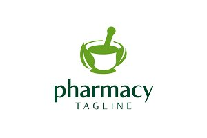 Natural Pharmacy Logo Template