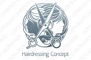 Hair Stylist Salon Hairdresser Concept