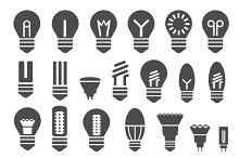 Set of  energy saving lamps