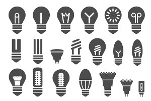 Set of  energy saving lamps