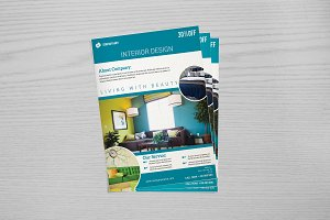 Interior Design Flyer Template-V699