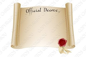 Paper official certificate
