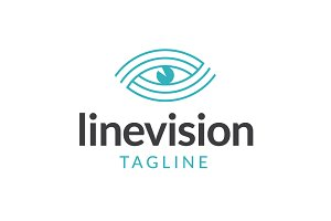 Line Vision Logo Template