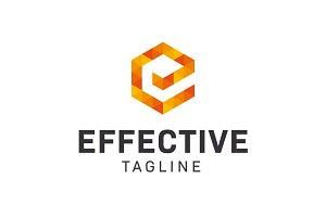 Effective Logo Letter E