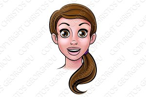 Woman Cartoon Face