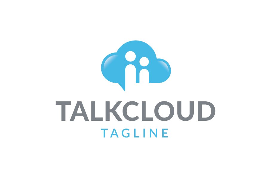 talk cloud logo logo templates creative market