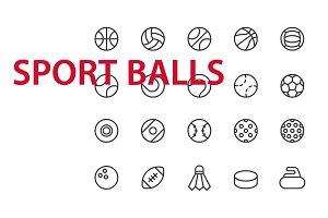20 Sport Balls UI icons