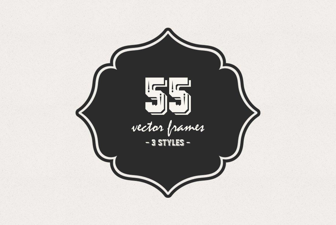 55 Vintage Vector Frames ~ Objects ~ Creative Market