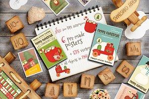 Christmas Posters JPEG, EPS, PNG