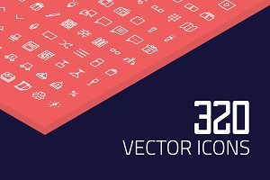 320 Linear Icons Pack - 2018