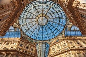 Dome of gallery Vittorio Emmanuele in Milan