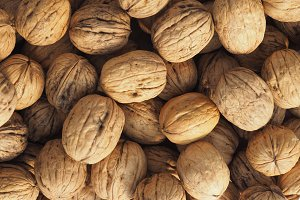 walnut fruit food background