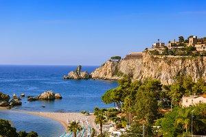 Taormina cliff