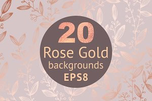 SALE! 50% Rose gold backgrounds