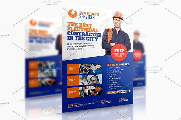 Electrical Services Flyer Templates Creative Market