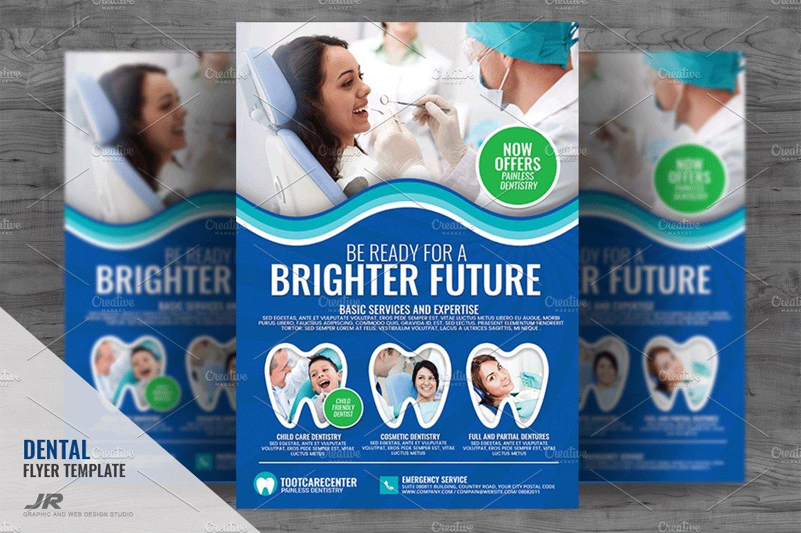 Dental Clinic And Dental Care Flyer Templates Creative