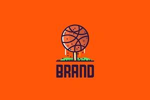 Basketball Tree Logo