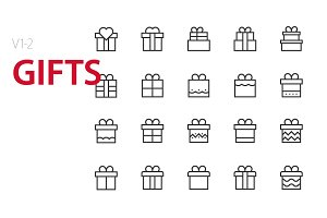 40  Gifts UI icons