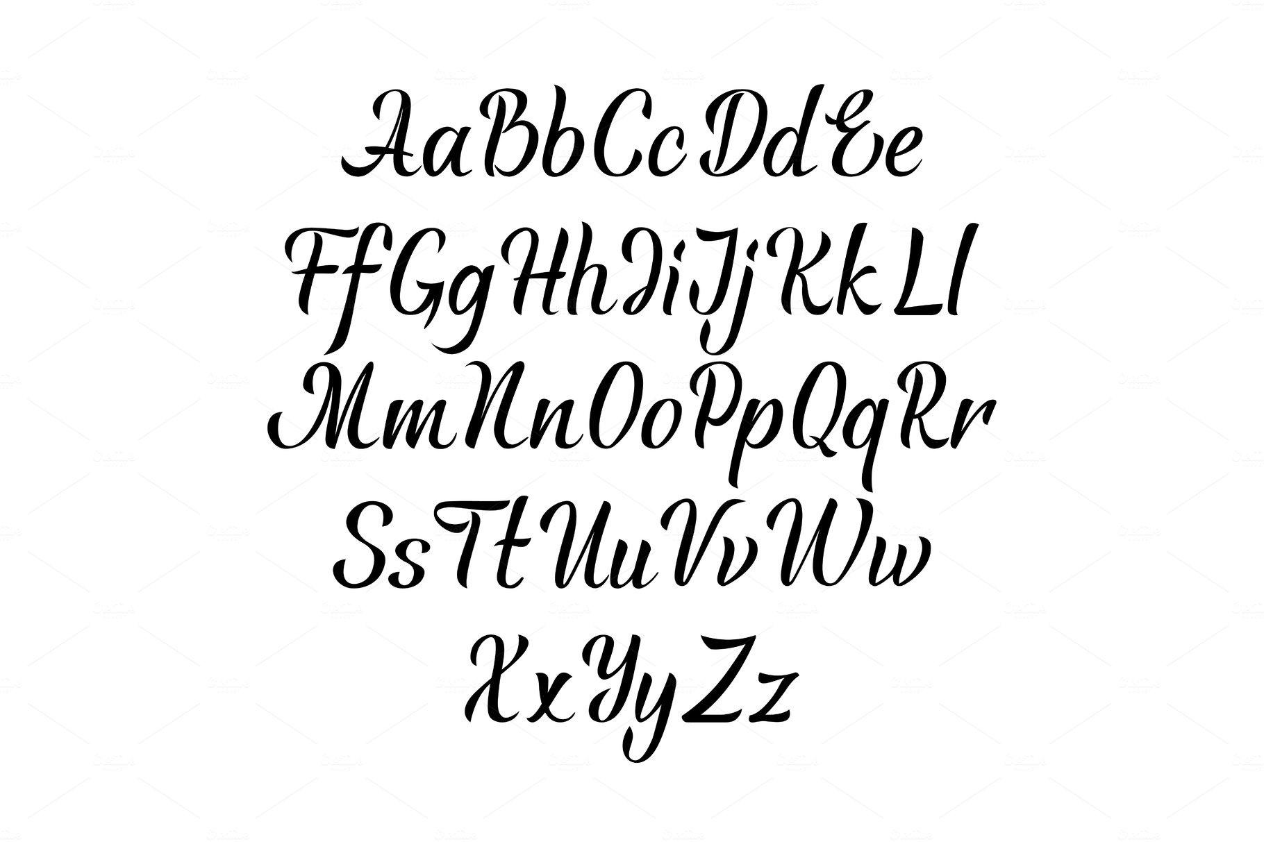 Handwritten vector aphabet. Hand drawn lettering font